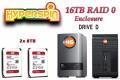 16TB Preconfigured Hyperspin Hard Disk External RAID 0 Enclosure Western Digital My Book Duo Gen 1